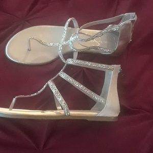 Elegant Flat Rose-Gold Sandals